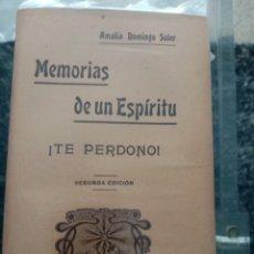 Libros antiguos: MEMORIAS DE UN ESPIRITU,! TE PERDONO! 8 TOMOS. Lote 244683515