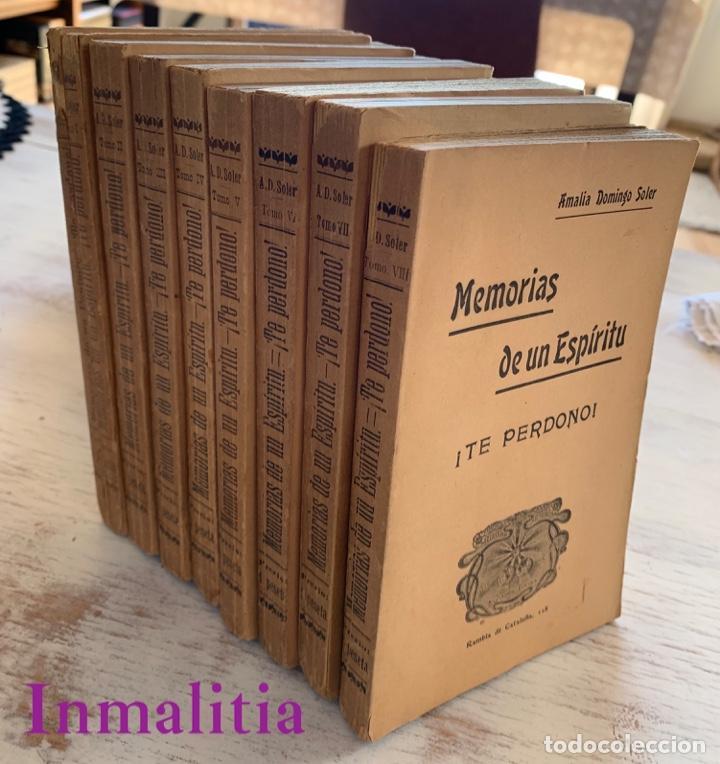 """8 TOMOS MEMORIAS DE UN ESPÍRITU ¡TE PERDONO! AMALIA DOMINGO SOLER. ESPIRITISMO. """"LA BUENA NUEVA"""". (Libros Antiguos, Raros y Curiosos - Parapsicología y Esoterismo)"""
