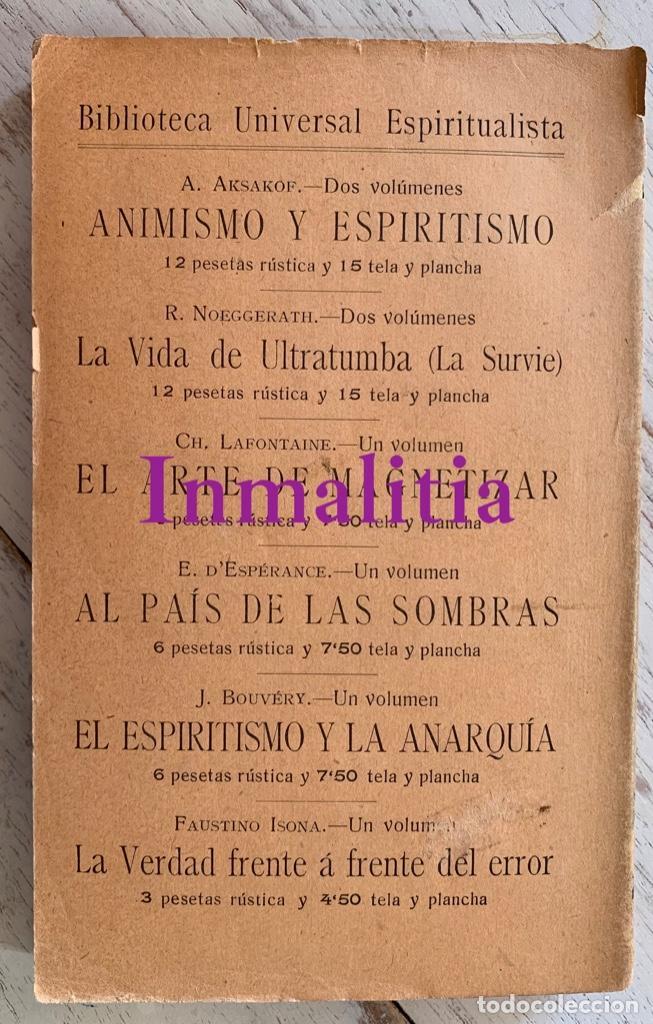 """Libros antiguos: 8 TOMOS MEMORIAS DE UN ESPÍRITU ¡TE PERDONO! Amalia Domingo Soler. Espiritismo. """"La Buena Nueva"""". - Foto 4 - 247998090"""