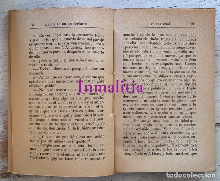 """Libros antiguos: 8 TOMOS MEMORIAS DE UN ESPÍRITU ¡TE PERDONO! Amalia Domingo Soler. Espiritismo. """"La Buena Nueva"""". - Foto 5 - 247998090"""