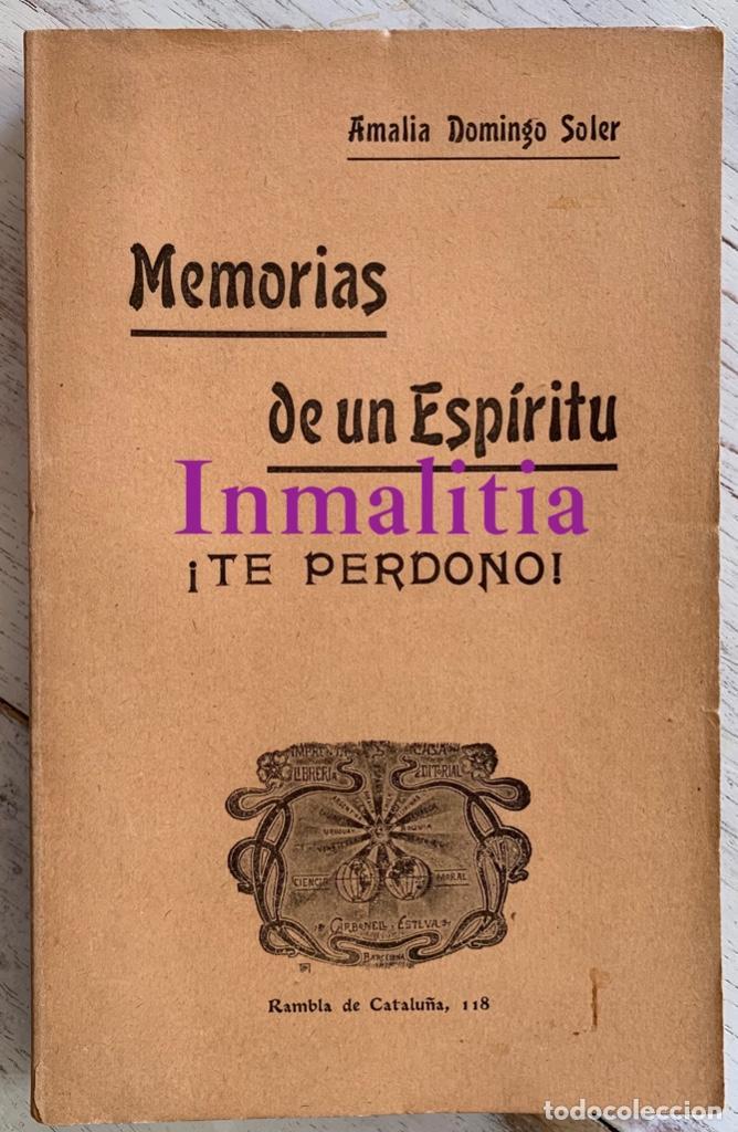 """Libros antiguos: 8 TOMOS MEMORIAS DE UN ESPÍRITU ¡TE PERDONO! Amalia Domingo Soler. Espiritismo. """"La Buena Nueva"""". - Foto 8 - 247998090"""