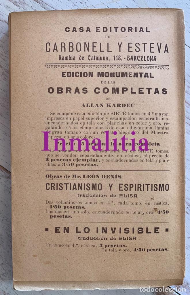"""Libros antiguos: 8 TOMOS MEMORIAS DE UN ESPÍRITU ¡TE PERDONO! Amalia Domingo Soler. Espiritismo. """"La Buena Nueva"""". - Foto 9 - 247998090"""
