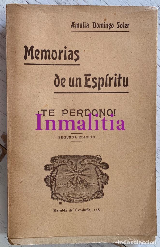 """Libros antiguos: 8 TOMOS MEMORIAS DE UN ESPÍRITU ¡TE PERDONO! Amalia Domingo Soler. Espiritismo. """"La Buena Nueva"""". - Foto 12 - 247998090"""
