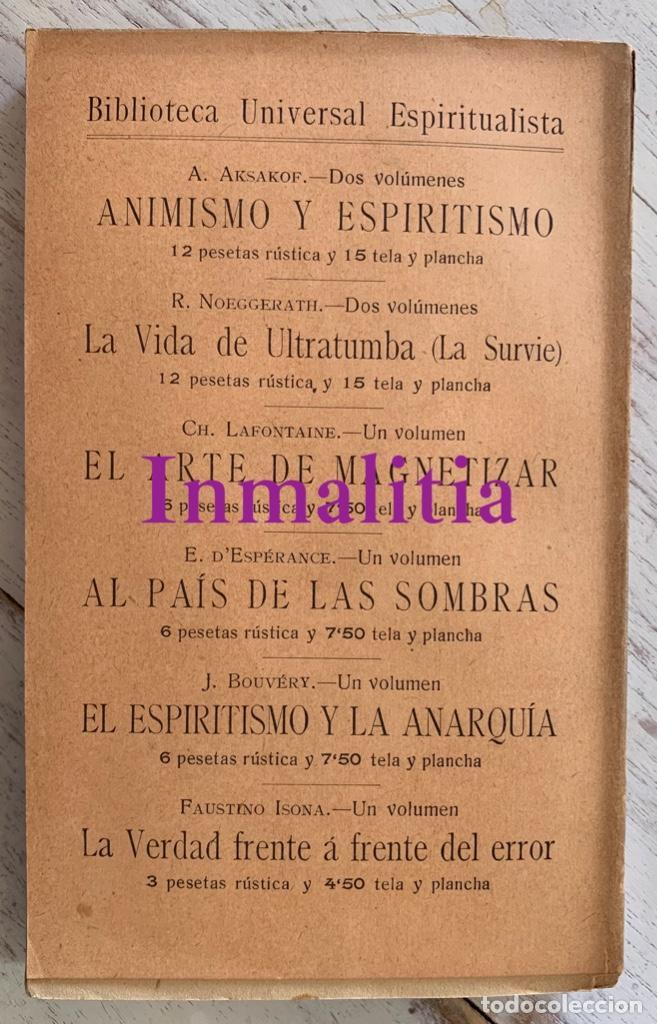 """Libros antiguos: 8 TOMOS MEMORIAS DE UN ESPÍRITU ¡TE PERDONO! Amalia Domingo Soler. Espiritismo. """"La Buena Nueva"""". - Foto 13 - 247998090"""