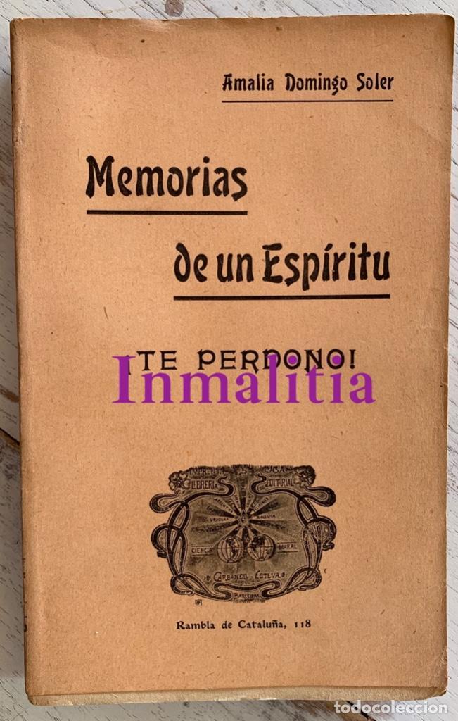 """Libros antiguos: 8 TOMOS MEMORIAS DE UN ESPÍRITU ¡TE PERDONO! Amalia Domingo Soler. Espiritismo. """"La Buena Nueva"""". - Foto 16 - 247998090"""