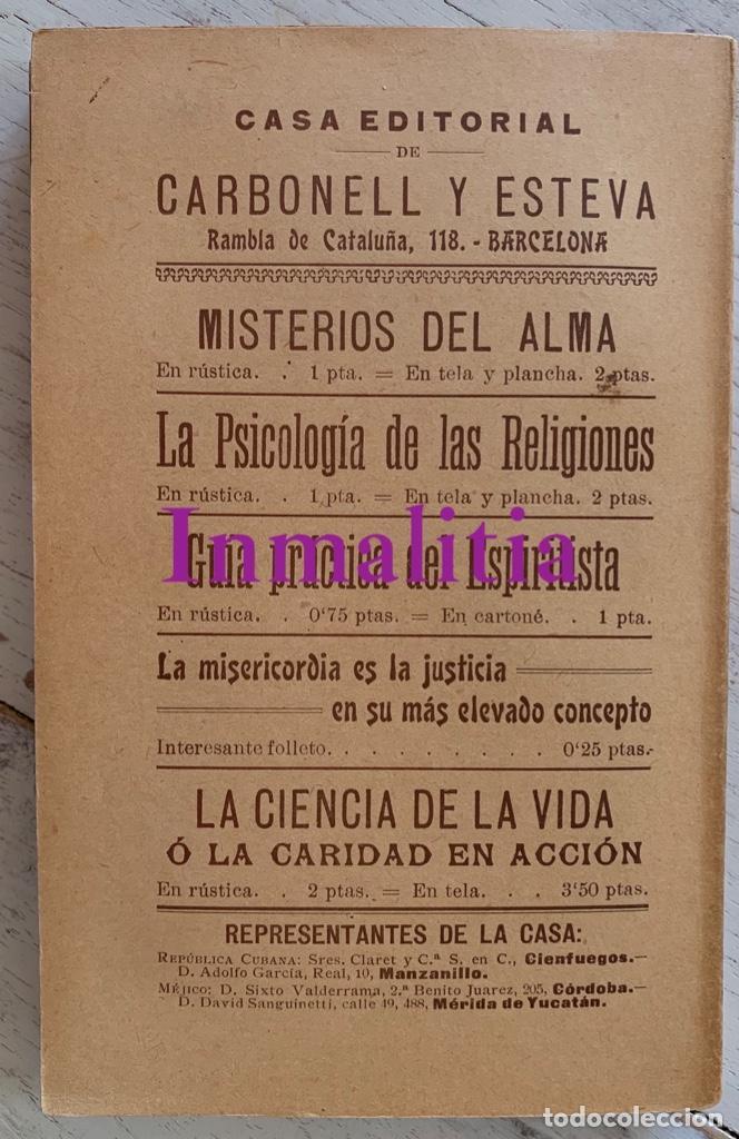"""Libros antiguos: 8 TOMOS MEMORIAS DE UN ESPÍRITU ¡TE PERDONO! Amalia Domingo Soler. Espiritismo. """"La Buena Nueva"""". - Foto 17 - 247998090"""