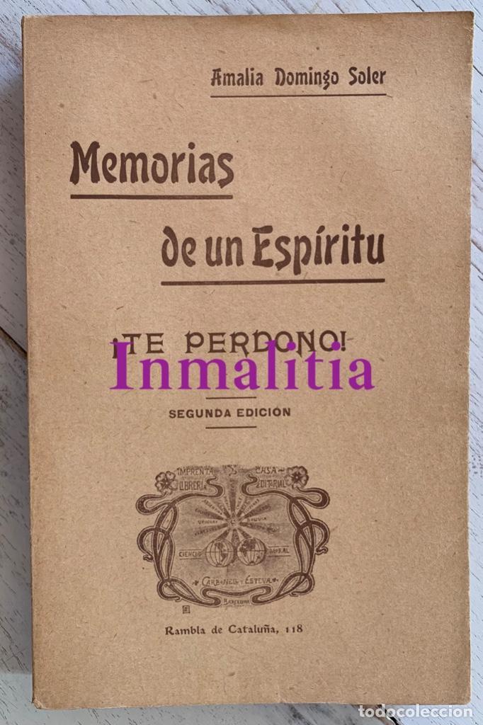 """Libros antiguos: 8 TOMOS MEMORIAS DE UN ESPÍRITU ¡TE PERDONO! Amalia Domingo Soler. Espiritismo. """"La Buena Nueva"""". - Foto 20 - 247998090"""