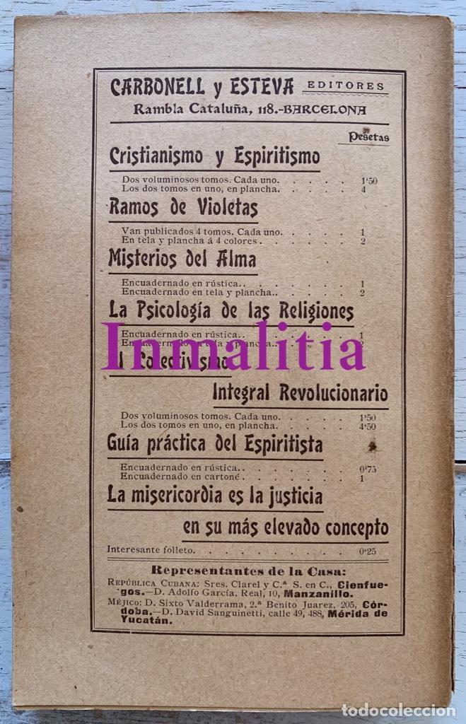 """Libros antiguos: 8 TOMOS MEMORIAS DE UN ESPÍRITU ¡TE PERDONO! Amalia Domingo Soler. Espiritismo. """"La Buena Nueva"""". - Foto 23 - 247998090"""