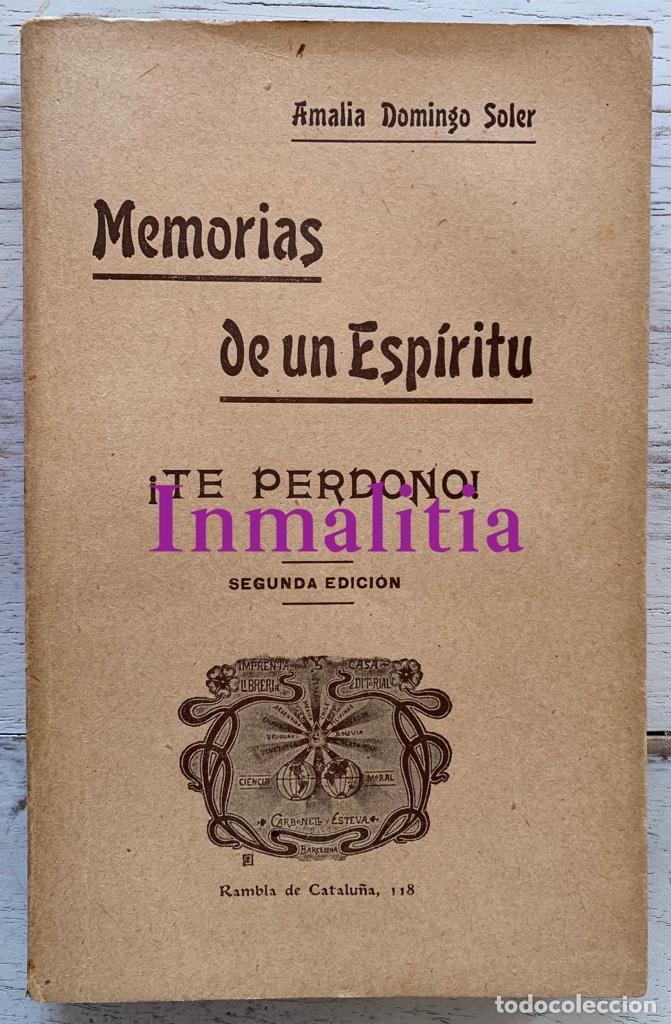 """Libros antiguos: 8 TOMOS MEMORIAS DE UN ESPÍRITU ¡TE PERDONO! Amalia Domingo Soler. Espiritismo. """"La Buena Nueva"""". - Foto 24 - 247998090"""