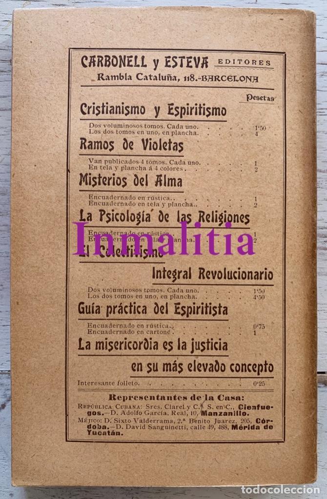 """Libros antiguos: 8 TOMOS MEMORIAS DE UN ESPÍRITU ¡TE PERDONO! Amalia Domingo Soler. Espiritismo. """"La Buena Nueva"""". - Foto 26 - 247998090"""