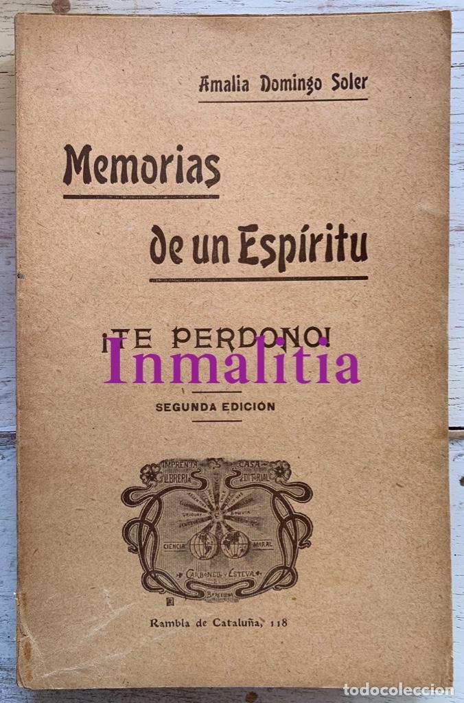 """Libros antiguos: 8 TOMOS MEMORIAS DE UN ESPÍRITU ¡TE PERDONO! Amalia Domingo Soler. Espiritismo. """"La Buena Nueva"""". - Foto 29 - 247998090"""