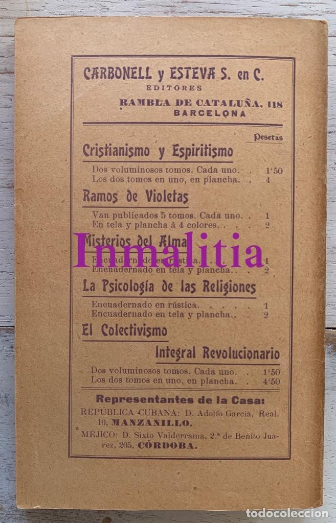 """Libros antiguos: 8 TOMOS MEMORIAS DE UN ESPÍRITU ¡TE PERDONO! Amalia Domingo Soler. Espiritismo. """"La Buena Nueva"""". - Foto 30 - 247998090"""