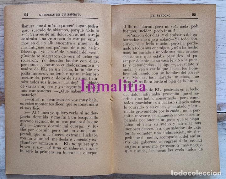 """Libros antiguos: 8 TOMOS MEMORIAS DE UN ESPÍRITU ¡TE PERDONO! Amalia Domingo Soler. Espiritismo. """"La Buena Nueva"""". - Foto 31 - 247998090"""