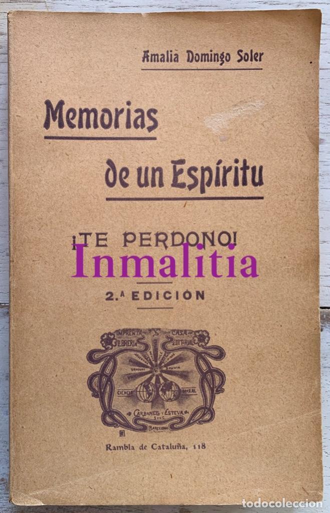 """Libros antiguos: 8 TOMOS MEMORIAS DE UN ESPÍRITU ¡TE PERDONO! Amalia Domingo Soler. Espiritismo. """"La Buena Nueva"""". - Foto 33 - 247998090"""
