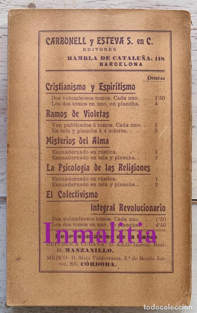 """Libros antiguos: 8 TOMOS MEMORIAS DE UN ESPÍRITU ¡TE PERDONO! Amalia Domingo Soler. Espiritismo. """"La Buena Nueva"""". - Foto 34 - 247998090"""