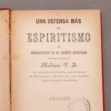Libros antiguos: MEDIUM V. B. : UNA DEFENSA MÁS DEL ESPIRITISMO - 1883 ZARAGOZA. Lote 248147940