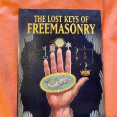 Libros antiguos: THE LOST KEYS OF FREEMASONRY - MANLY P. HALL. Lote 249495815