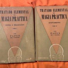 Libros antiguos: TRATADO ELEMENTAL DE MAGIA PRÁCTICA - PAPUS (DR. ENCAUSSE) KIER. Lote 249509665