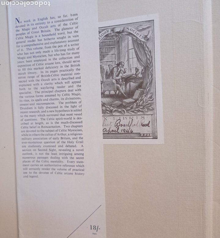 Libros antiguos: Lewis Spence The magic arts of Celtic Britain 1946 ocultismo magia celtas brujería druidismo grial b - Foto 3 - 250347435