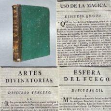 Livres anciens: 1773 - USO DE LA MAGIA - ARTE DE LA ADIVINACIÓN - PROFECIAS SUPUESTAS - ESFERA DEL FUEGO. Lote 251394755