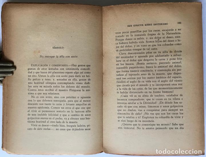 Libros antiguos: SEIS ENSAYOS SOBRE ESOTERISMO. - GUIRAO, Pedro. - Foto 6 - 123199059