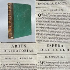 Livros antigos: 1773 - USO DE LA MAGIA - ARTE DE LA ADIVINACIÓN - PROFECIAS SUPUESTAS - ESFERA DEL FUEGO. Lote 259765230