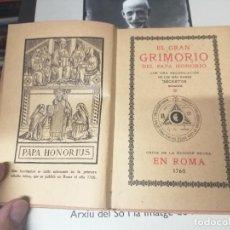 Libros antiguos: EL GRAN GRIMORIO DEL PAPA HONORIO CON UNA RECOPILACIÓN DE LOS MÁS RAROS SECRETOS MÁGICOS.. Lote 261831945