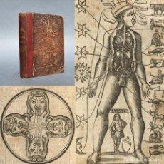 Libros antiguos: 1855 - LUNARIO - MAGIA Y ASTROLOGIA - HOROSCOPO - SISTEMA GEOCÉNTRICO - MEDICINA - GRABADOS. Lote 267080209