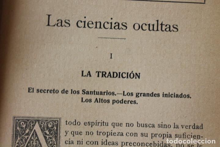 Libros antiguos: LAS CIENCIAS OCULTAS, J. VILLENEUVE, 1922, ED. ORRIER - Foto 4 - 267457044