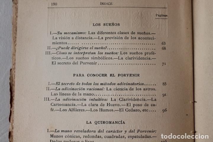 Libros antiguos: LAS CIENCIAS OCULTAS, J. VILLENEUVE, 1922, ED. ORRIER - Foto 6 - 267457044
