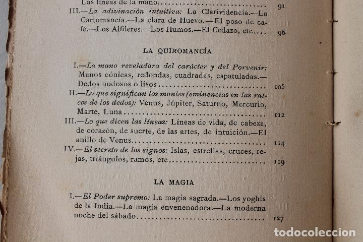 Libros antiguos: LAS CIENCIAS OCULTAS, J. VILLENEUVE, 1922, ED. ORRIER - Foto 7 - 267457044