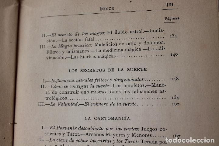 Libros antiguos: LAS CIENCIAS OCULTAS, J. VILLENEUVE, 1922, ED. ORRIER - Foto 8 - 267457044