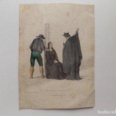 Libros antiguos: LIBRERIA GHOTICA. SANTA INQUISICIÓN. GRABADO ILUMINADO A MANO. 1850.. Lote 273004753