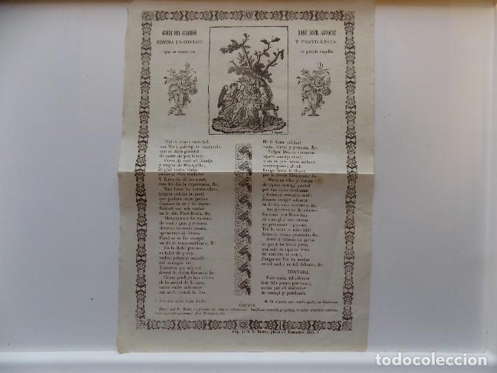 Libros antiguos: LIBRERIA GHOTICA. GRAN GRABADO CONTRA CONTAGIOS Y PESTILENCIAS.GOIG DEL SEGLE XIX. CONJUROS. - Foto 2 - 273364233
