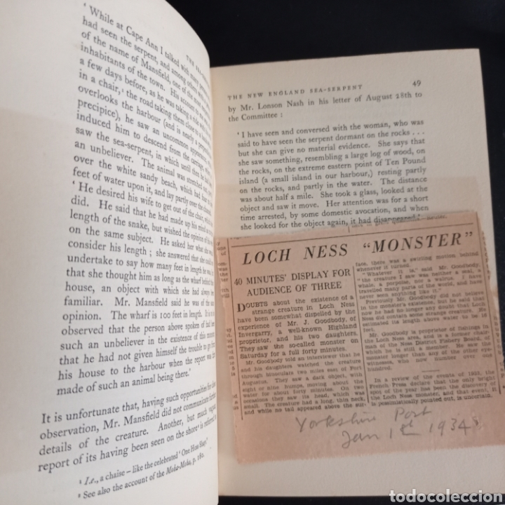 Libros antiguos: R. Gould The case for the sea serpent 1930 criptozoología enigmas misterios mar océano - Foto 9 - 286014443