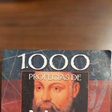 Libros antiguos: 1000 PROFECÍAS DE NOSTRADAMUS. ED SERVILIBRO. COMO NUEVO.. Lote 286402168