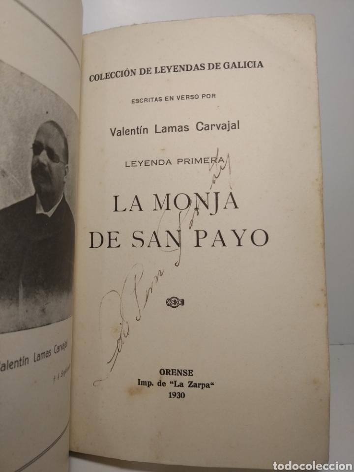 Libros antiguos: Valentín Lamas Carvajal: leyendas gallegas en verso. La Zarpa. 1930. Primera edicion. - Foto 3 - 286754883