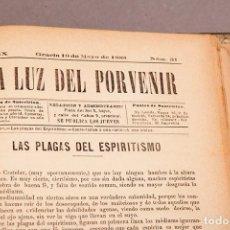 Libros antiguos: LA LUZ DEL PROVENIR - REVISTA - DEL AÑO IX Nº1 AL AÑO IX Nº 52 - 1887 - 1888 - SEMANARIO ESPIRITISTA. Lote 293585388