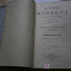 Libros antiguos: ESCUELA MODERNA (LA). REVISTA PEDAGÓGICA HISPANO-AMERICANA. . Lote 18343995
