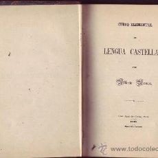 """Libros antiguos: """"CURSO ELEMENTAL DE LENGUA CASTELLANA"""" Y """"EJERCICIOS GRAMATICALES"""". ALBERTO BRENES.. Lote 20925773"""