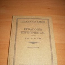 PEDAGOGIA EXPERIMENTAL (EDICCION LABOR) EDUCACION 1935