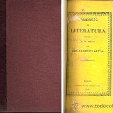 Libros antiguos: LECCIONES DE LITERATURA ESPAÑOLA – AÑO 1836. Lote 26627349