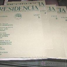 Libros antiguos: RESIDENCIA - REVISTA CUATRIMESTRAL DE LA RESIDENCIA DE ESTUDIANTES 1932 4 NUMEROS- 3-4-5-6. Lote 30815721