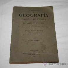 Libros antiguos: 1362- 'COMPENDIO DE GEOGRAFÍA ESPECIAL DE ESPAÑA' POR A. MORENO. 5ª EDICIÓN DE 1916. Lote 27390471