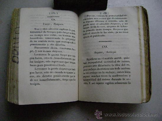 Libros antiguos: EXAMEN DE LA POSIBILIDAD DE FIJAR LA SIGNIFICACION DE LOS SINONIMOS DE LA LENGUA CASTELLANA 1819.R15 - Foto 5 - 28003542