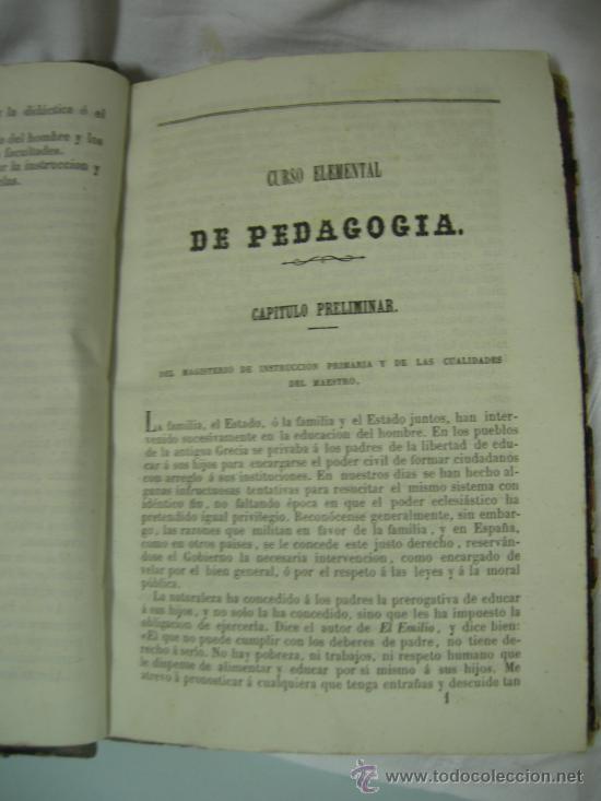 Libros antiguos: CURSO ELEMENTAL DE PEDAGOGÍA - JOAQUIN AVENDAÑO Y MARIANO CARDERERA - MADRID 1861 - Foto 5 - 28640618