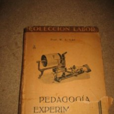 PEDAGOGIA EXPERIMENTAL W.A.LAY EDITORIAL LABOR 1935