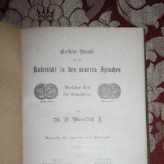 Libros antiguos: 1861- 'ERFTES BUCH FÜR BEN UNTERRICHT IN DEN NEUREN SPRACHEN' POR BERLITZ 1903 BERLIN SIEGFRIED. Lote 31857148