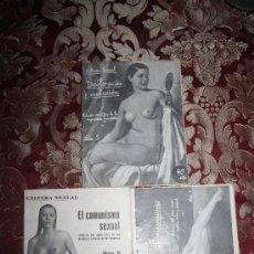 Libros antiguos: 0361- LOTE DE 3 REVISTAS DE 'CULTURA SEXUAL' Nº 4, 5 Y 6 - 1936 - PUBLICACIONES MODERNAS - BARCELONA. Lote 32390339