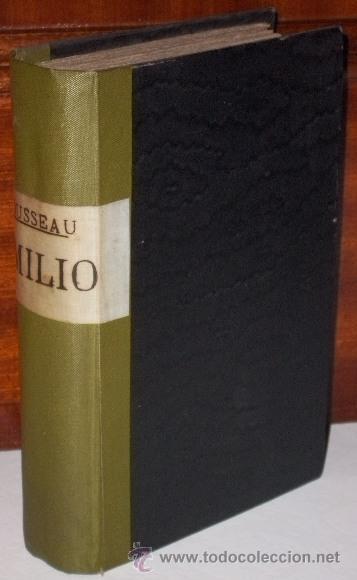 EMILIO (OBRA COMPLETA) POR J. J. ROUSSEAU DE LIBRERÍA DE ANTONIO NOVO EN MADRID 1879 (Libros Antiguos, Raros y Curiosos - Ciencias, Manuales y Oficios - Pedagogía)